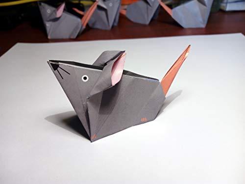 Ratón papiroflexia origami - Kit 30 hojas + Instrucciones - 15€