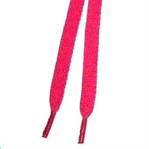 Schnürsenkel, flach, neonfarben, 100 cm, 1 Paar, rose, 100 cm