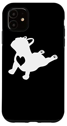 iPhone 11 French Bulldog Yoga Pose Love Heart Frenchie Workout Gift Case