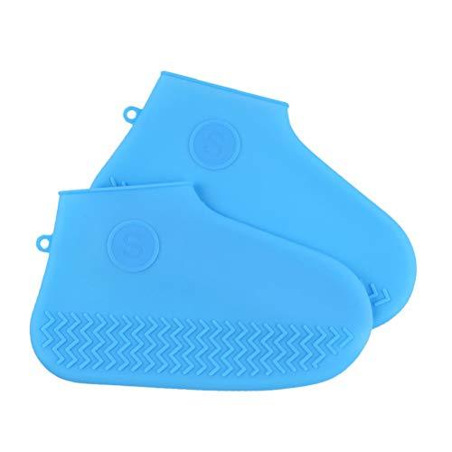 Hemoton 1 par de protectores de zapatos impermeables de silicona para exteriores, tamaño S, color azul