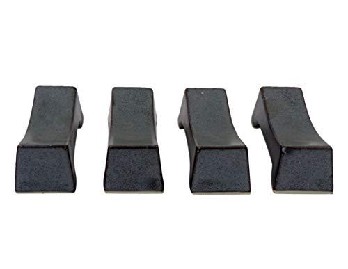Soporte para palillos de metal rústico y cuchara para mesa de cocina, paquete de 4, 5 cm
