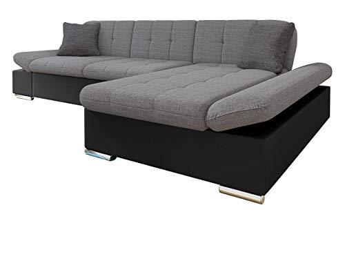 Mirjan24 Ecksofa Malwi mit Regulierbare Armlehnen Design Eckcouch mit Schlaffunktion und Bettkasten, L-Form Sofa vom Hersteller, Couch Wohnlandschaft (Soft 011 + Lux 05 + Lux 06, Ecksofa: Rechts)