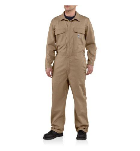Carhartt Herren Overall aus Twill, schwer entflammbar, groß und hoch - Braun - 50 Tall