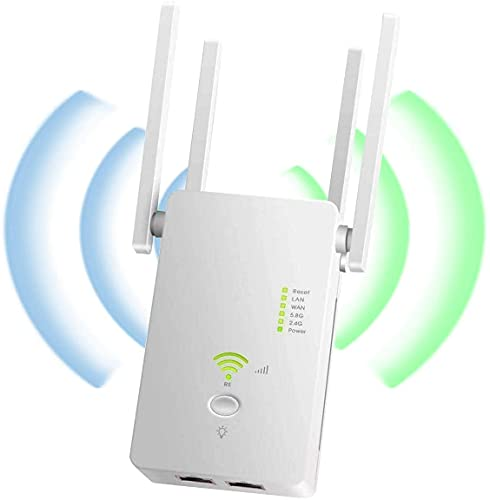 COOLEAD Ripetitore WiFi Wireless 1200Mbps WiFi Extender Access Point Dual Band 5GHz 2.4GHz Amplificatore Segnale Wifi Ripetitore Supporta AP   Repeater   Router Modalità Ethernet Porta WPS 4 Antenne