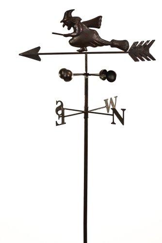 east2eden Dark Metal Witch Wind Weathervane Weather Vane Garden Spinner Ornament