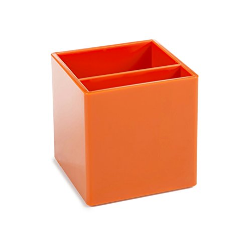Pen Cup with two compartments, Orange …