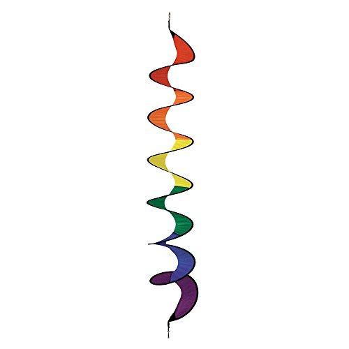 HQ Windspiration 109305 - Twist, UV-beständiges und wetterfestes Windspiel - Länge: 125 cm, Ø: 23 cm, inkl. Aufhängung