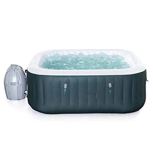 Draagbare bubbelmassage spa, opblaasbaar zwembad bubbelbaden jacuzzi familie bad vat constante temperatuur massage opblaasbaar verwarmd zwembad voor 4-6 personen, 778L