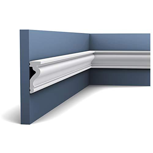Türumrandung Orac Decor DX174-2300 LUXXUS Sockelleiste Wandleiste Zeitloses Klassisches Design weiß 2,3m