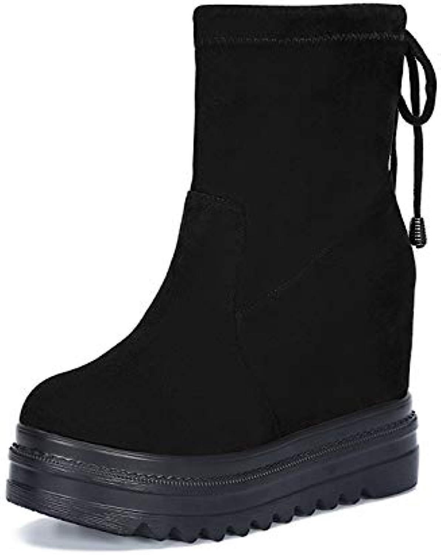 AGECC Hohe Stiefel Frauen Winter Biskuitkuchen Dicker Boden Baumwollstiefel Anti-Rutsch-Schneeschuhe.