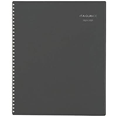"""Academic Planner 2020-2021, AT-A-GLANCE Weekly & Monthly Appointment Book, 8-1/2"""" x 11, Large, DayMinder, Charcoal (AYC52045)"""