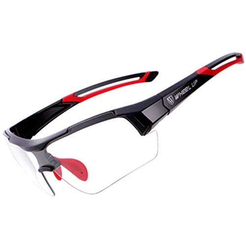 ZLININ Y-longhair - Gafas de sol deportivas deportivas para hombre, para correr, conducir, pesca, golf, béisbol, ciclismo, correr, conducir (color rojo, talla: talla única)