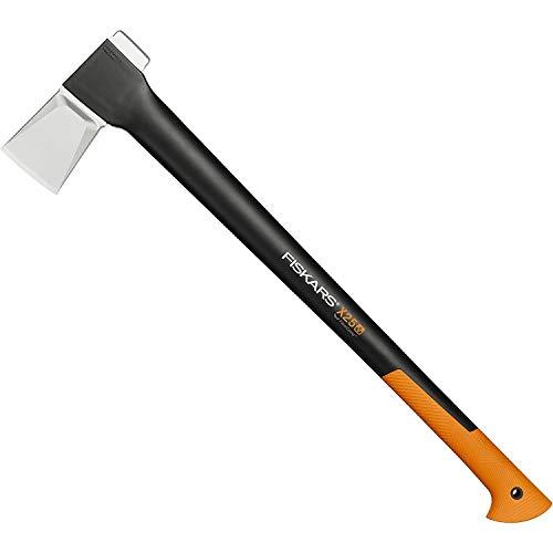 Fiskars Hacha, 2,4 kg, Estuche incluido, Longitud: 77 cm, Negro/Naranja, X25–XL, 1015643