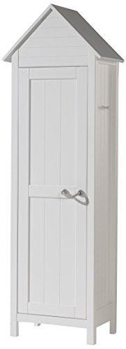 Vipack Lewis Wäscheschrank, Holzwerkstoff, weiß, 40 x 62 x 192 cm