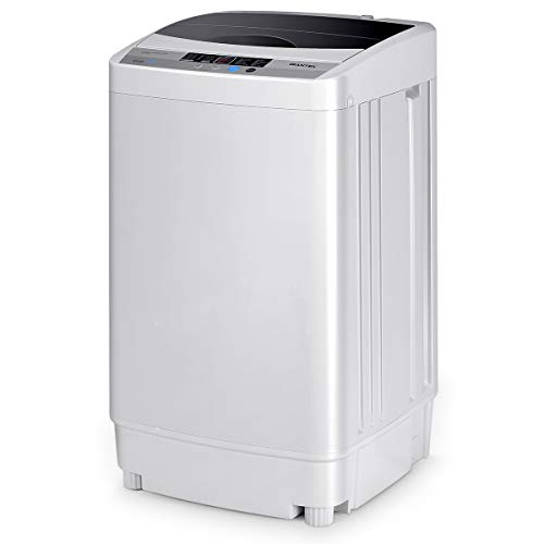 COSTWAY 2 in 1 Portable Washing Machine, 10 Modes 8 Adjustable Water Level Laundry Washer, Home...