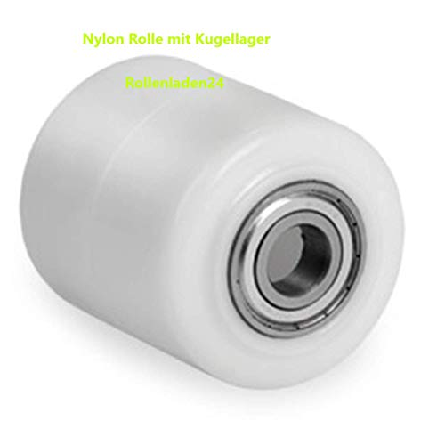 Hubwagenrolle Polyamid Rolle/Nylon 82 x 70 mm Bohrung 20 mit Kugellager, Nylon