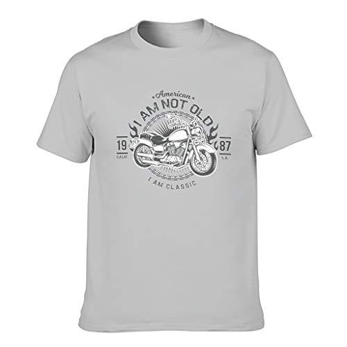 STELULI Camiseta de algodón para hombre con texto en inglés 'I Am Not Old I Am Classic'