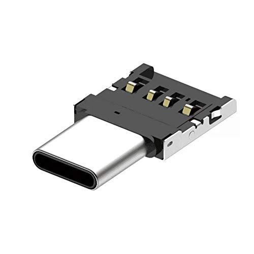 Adaptador tipo C a USB 3.0, adaptador Thunderbolt 3 a USB de aluminio para MacBook Pro 2019/2018, MacBook Air 2018, Pixel 3, Dell XPS y más dispositivos tipo C, plateado