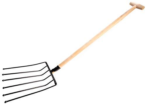 KOTARBAU Heuforke - Horca para trinchar (6 dientes, 130 cm, con mango de metal)