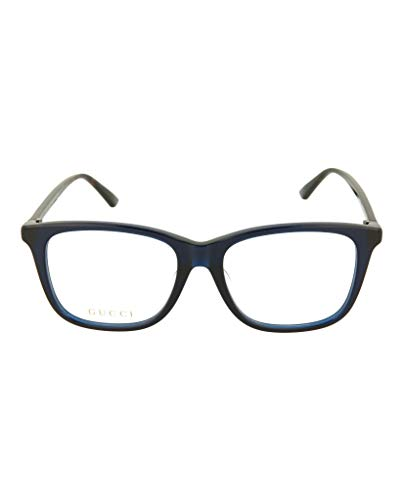 Gucci GG0018OA Brillenfassung 54mm blau transparent damen herren
