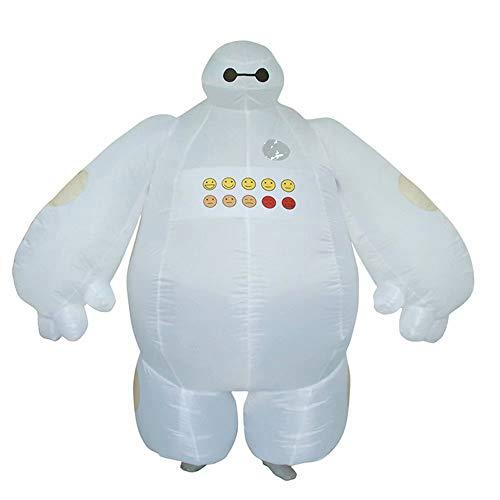 RenKeAi Adulti Costume Baymax Divertente Gonfiabile Supereroe Baymax Costume Cosplay per Uomo Donna Unisex Vestito Operato da Mascotte - Altezza 160-190 cm (con soffiante ad Aria ● - ●)