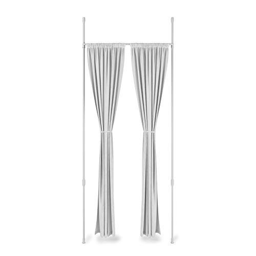 Umbra 1012718-660-REM Anywhere Expandable Room Divider, Tension Curtain Rod, Damage Free, 36 to 66 Inches, White