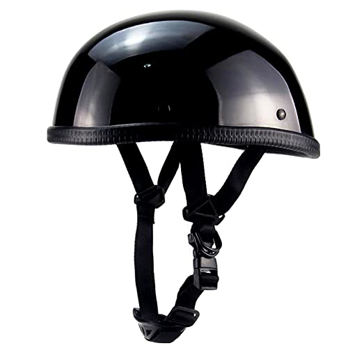 Medio Casco de Motocicleta Vintage,Casco Moto Abierto,Retro Medio Casco,Cascos Half-Helmet,Casco Ajustable Patinete...