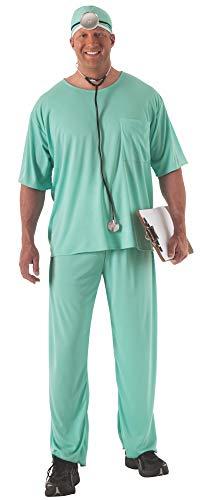 Rubie's mens Size Men s Plus Doctor Costume, Multicolor, One Size US