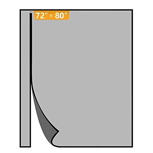 Yotache Reversible Left Right Side Opening Wide Magnetic Screen Door Fits Door Size 72 x 80, Strengthened Fiberglass Insect Fly Mesh for Front, Patio Sliding Door