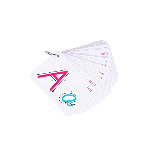 XKJFZ Carta Tarjetas ABC Tarjetas Flash Reconocimiento Y Kinder Niños Flash Card ABC 1 Juego, La Tarjeta De Reconocimiento De Letras, ABC Juguete De Aprendizaje, Tarjetas del Alfabeto,