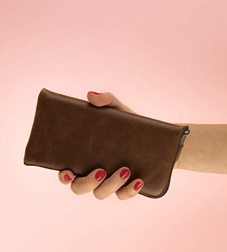 Leder Etui für Samsung Galaxy Note 10 Plus Hülle Tasche braune Handyschale Gehäuse Ledertasche Lederetui Lederhülle Handytasche Handysocke Handyhülle Leder Case Cover Etui Schalle Socke Abdeckung