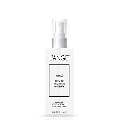 L'ange Hair Miracle Conditioning Spray - Infused with Nourishing Marula Oil - Lightweight & UV Protectant - Perfect for Post-Blowout - Shine Enhancing Hair Spray - 4 Fl Oz / 118 ml, MSRP $22.00