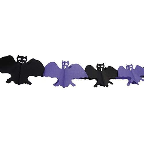 Boland- Ghirlanda Decorazione Pipistrelli, Nero/Viola, 74562