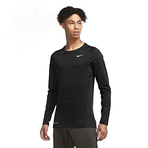 Nike Pro Warm Men's Long-Sleeve Top CU6740-010 Black/White Black/White XL