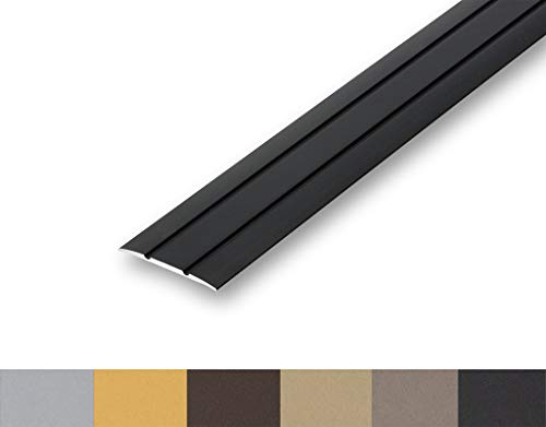(7,63€/m) Übergangsprofil flach 38 mm selbstklebend (900 mm, schwarz)