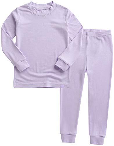 VAENAIT BABY Kids Long Sleeve Modal Sleepwear Pajamas 2pcs Set Modal Lavender XS