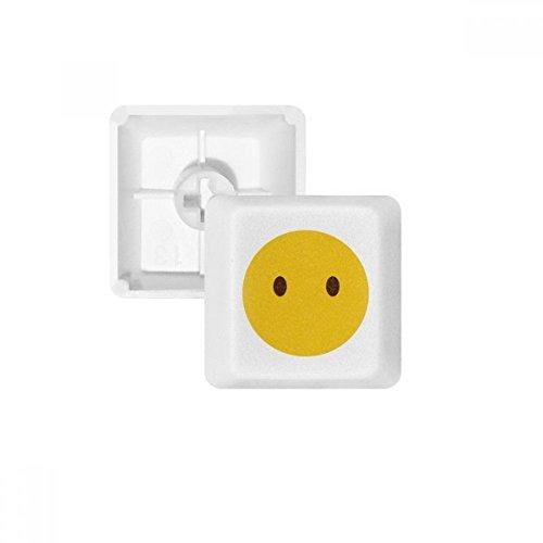 OFFbb los Ojos Amarillos Lindos de Chat en línea Emoji pbt Teclas de Teclado mecánico Blanca OEM no Marcado Imprimir