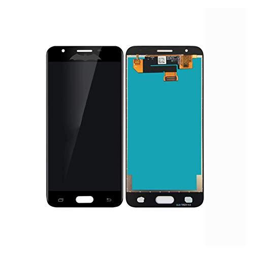 Pantalla de teléfono móvil para Samsung Galaxy J5 Prime G570 G570F On5 2016 G5700Touch pantalla digitalizador Asamblea pantalla LCD táctil (color blanco agujeros dobles) Accesorios para teléfono móvil