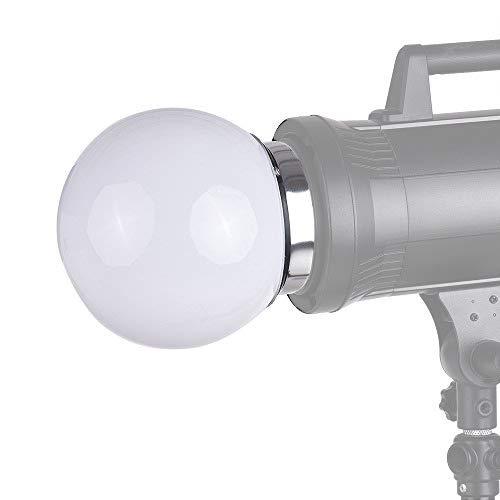 Docooler 7-Zoll-Kugel Diffusor Ball Monolight Speedlite Blitz Bounce Fotografie mit Bowens S-Typ Halterung f¨¹r Studio Beleuchtung Flash