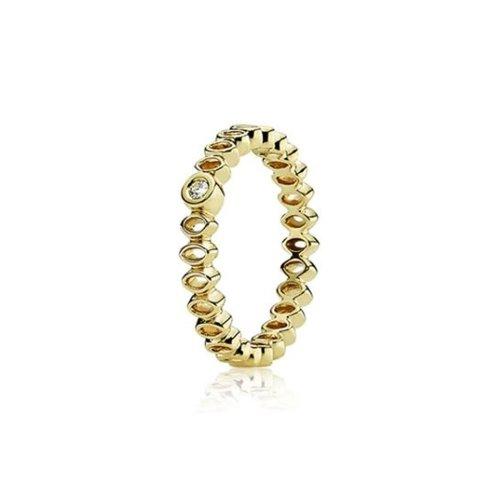 PANDORA - Anillo de Oro Amarillo de 14 Quilates, Talla 14 (17,2 mm)