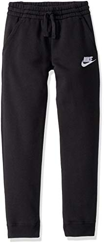 Nike Boys NSW Club Jogger Fleece Pant, Black/Black/White, Medium
