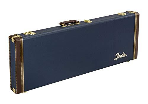 Fender® Funda rectangular para guitarra eléctrica, color azul marino