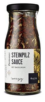 Steinpilz Sauce 55g - Pastasauce mit Basilikum I Wajos Gourmet