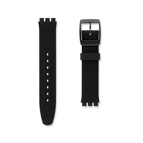 Correa Silicona Negra Reloj Swatch Black Effect Irony Big AYGB4007 17mm