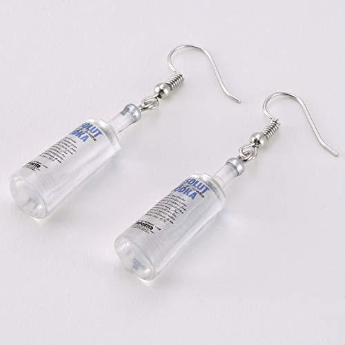 Pennytupu Kreative Coole Wodka-Flasche Tropfen Ohrringe lustige Trinkart Cartoon transparente Flasche baumeln Ohrringe für Frauen