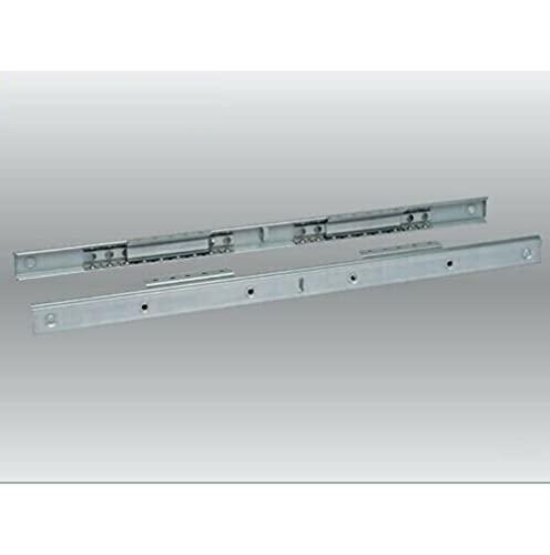 Guide Allungabili in Acciaio per Tavoli con Apertura Centrale da mm 750 e 900 - Dimensione Disponibile: Lunghezza mm 900