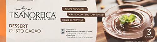 Gianluca Mech - Dessert Proteico a Basso Contenuti di Grassi e Senza Zuccheri, al Gusto di Cacao - 3 Porzioni