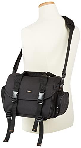 Amazon Basics Large DSLR Gadget Bag (Orange interior)
