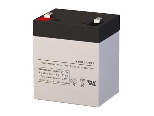 B&B Battery HR5.8-12 Replacement Battery - 12 Volt 5.5 AH F2 Terminal by SigmasTek