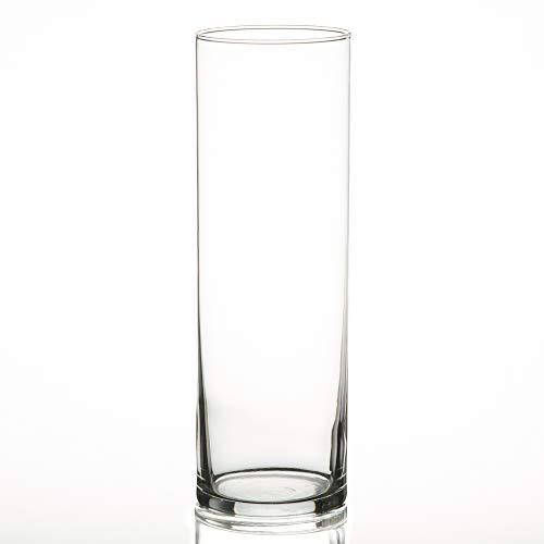 """Eastland® Cylinder Vases 10.5"""" Set of 12"""